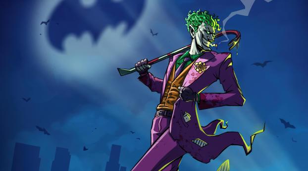 Joker DC Comic Digital 4K Wallpaper