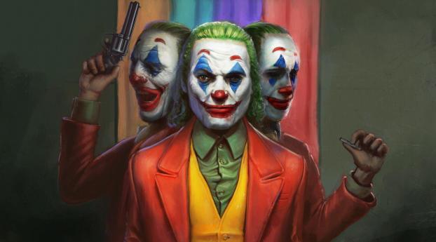 HD Wallpaper | Background Image Joker Faces 5K
