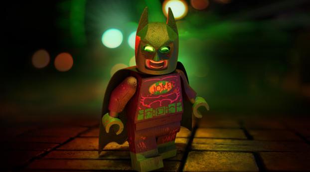 Joker in Batsuit Lego Movie Wallpaper
