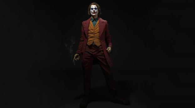 Joker Smoking 4K Portrait Wallpaper