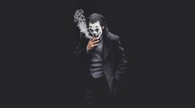 HD Wallpaper | Background Image Joker Smoking Monochrome