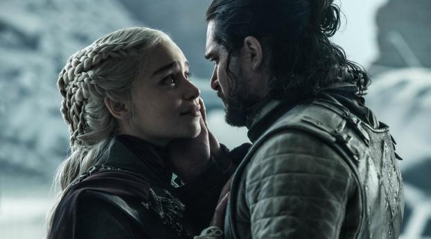 HD Wallpaper | Background Image Jon Snow Daenerys Targaryen Last Scene