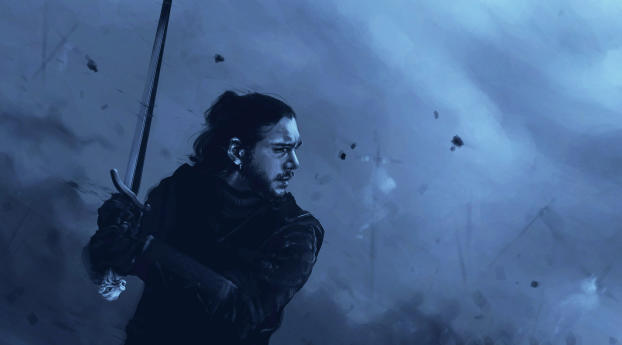 Jon Snow Game Of Thrones Art Wallpaper 2560x1080 Resolution