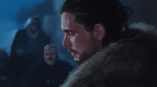 HD Wallpaper | Background Image Jon Snow Game Of Thrones Artwork
