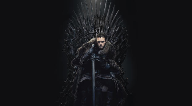 HD Wallpaper | Background Image Jon Snow in The Iron Throne