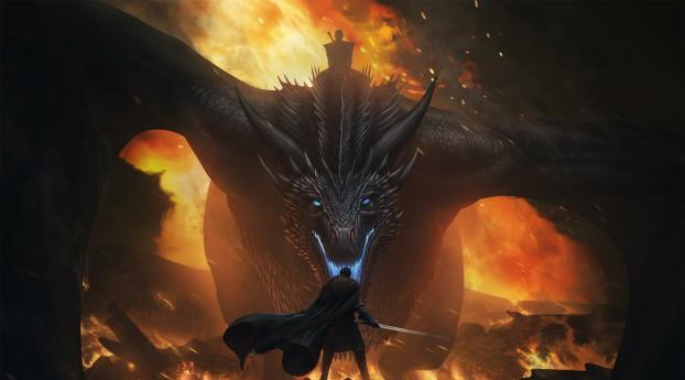 480x854 Jon Snow Vs Night King Dragon Android One Mobile