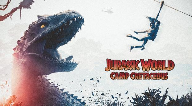 Jurassic World Camp Cretaceous Fan Poster Wallpaper 640x960 Resolution