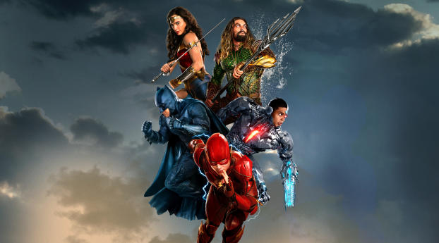 Justice League Team Poster Wallpaper