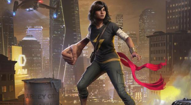 HD Wallpaper | Background Image Kamala Kahn Marvels Avengers