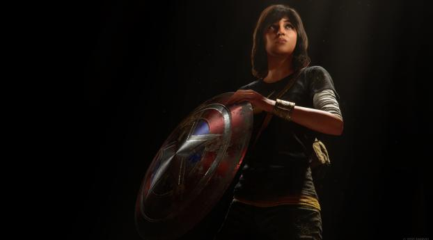 Kamala with Shield Avengers Game Wallpaper
