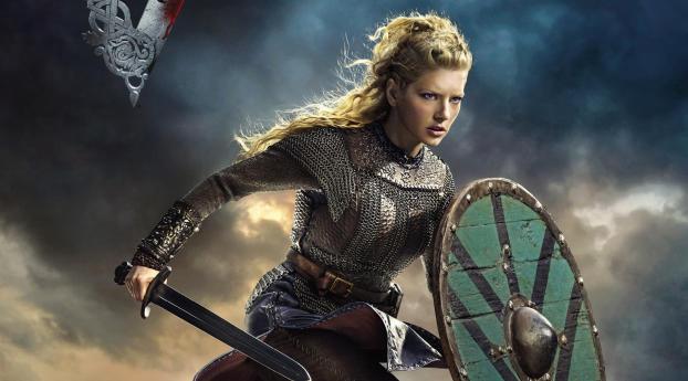 HD Wallpaper   Background Image Katheryn Winnick In Vikings