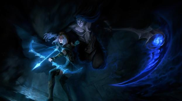 HD Wallpaper | Background Image Kayn and Ashe League Of Legends