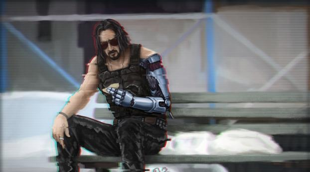 HD Wallpaper | Background Image Keanu Reeves Artwork Cyberpunk 2077