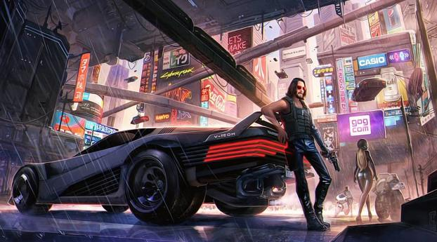 HD Wallpaper | Background Image Keanu Reeves Cyberpunk 2077 Art