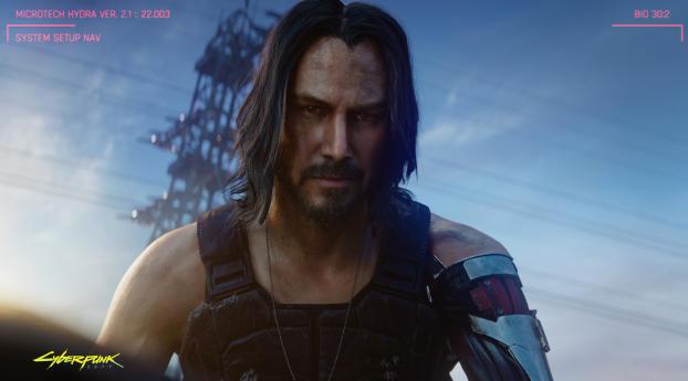 Keanu Reeves In Cyberpunk 2077 Wallpaper