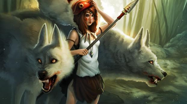 kelly perry, princess mononoke, girl Wallpaper 2560x1440 Resolution