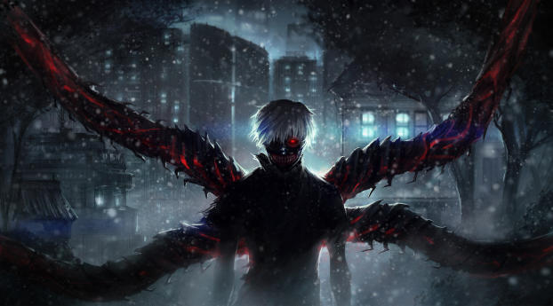 HD Wallpaper | Background Image Ken Kaneki Wings
