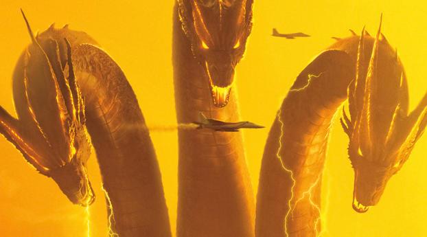 King Ghidorah In Godzilla King of the Monsters 4k 8k Wallpaper 800x1280 Resolution