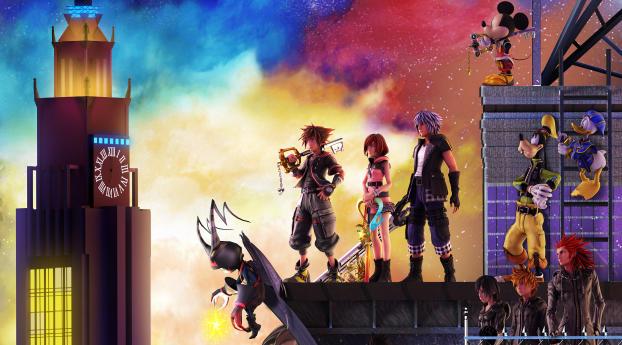 Kingdom Hearts 3 Wallpaper 1080x2400 Resolution