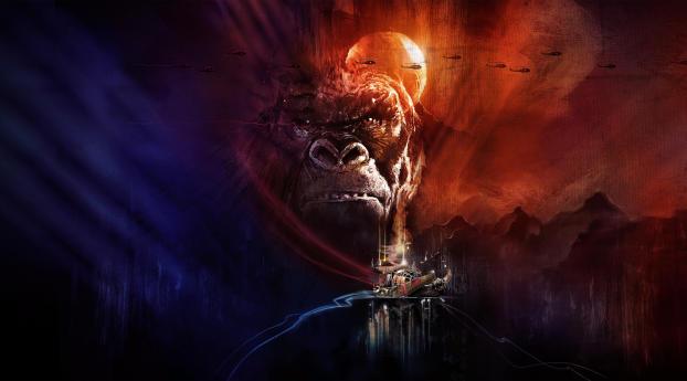Kong Skull Island King 8K Wallpaper 2560x1700 Resolution