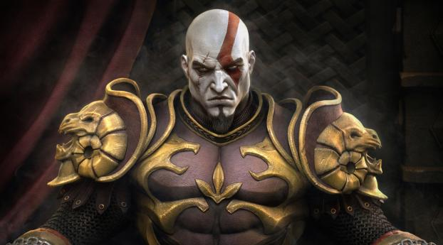 320x240 Kratos God Of War In Throne Apple Iphone Ipod Touch