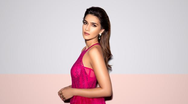 HD Wallpaper | Background Image Kriti Sanon Pink Dress