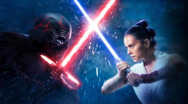 HD Wallpaper | Background Image Kylo Ren vs Rey