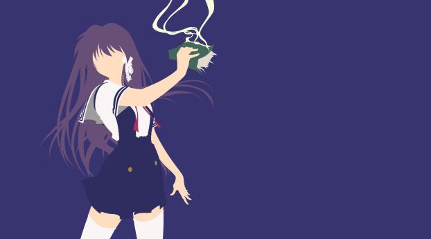 HD Wallpaper   Background Image Kyou Fujibayashi Minimal