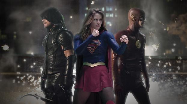 Legends Of Tomorrow Flash Arrow Supergirl Wallpaper