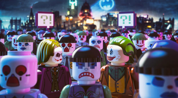 Lego Joker DC Wallpaper 2880x1800 Resolution