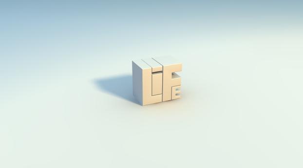 life, letters, white Wallpaper