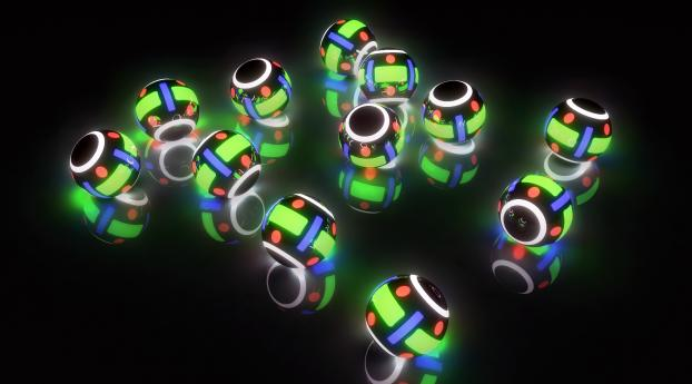 light, balls, lights Wallpaper 3840x2400 Resolution