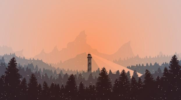HD Wallpaper | Background Image Lighthouse in Snow