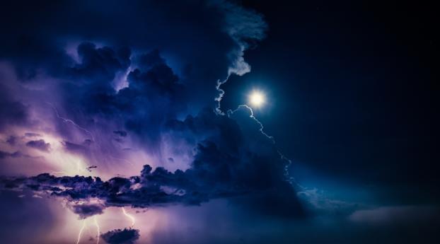 Lightning at Night HD Wallpaper 800x1280 Resolution