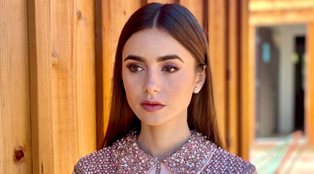 Lily Collins Actress 2021 Wallpaper