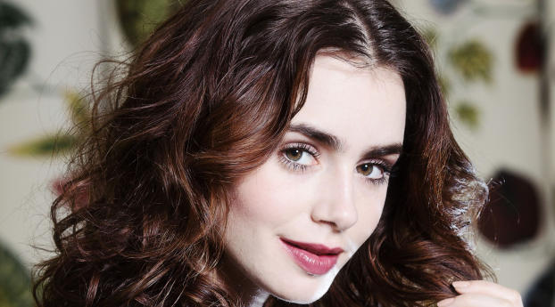 Lily Collins Actress Wallpaper
