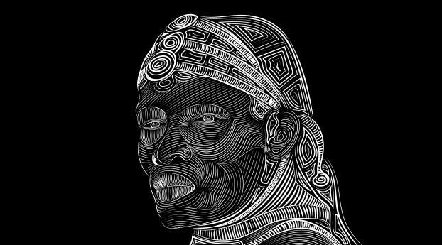 Line Vector Art Face Drawing Wallpaper