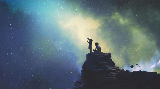 Looking At Stars Wallpaper