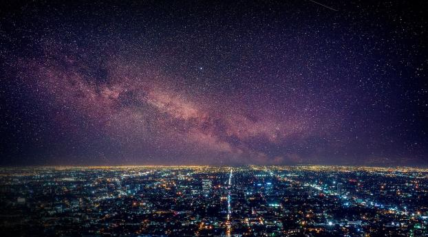 HD Wallpaper | Background Image Los Angeles Starry Night