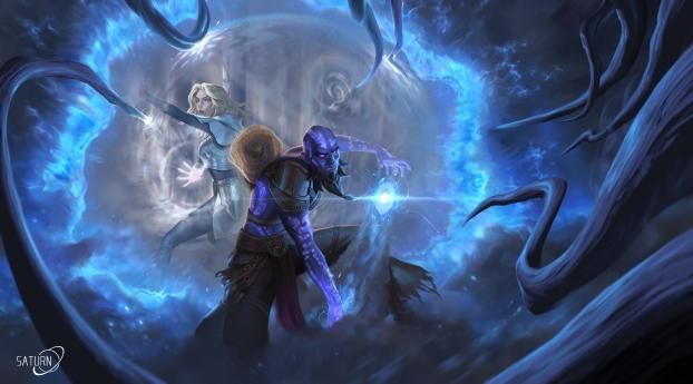 HD Wallpaper | Background Image Lux and Ryze League Of Legends