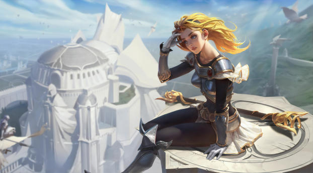 HD Wallpaper | Background Image Lux In League Of Legends 4K