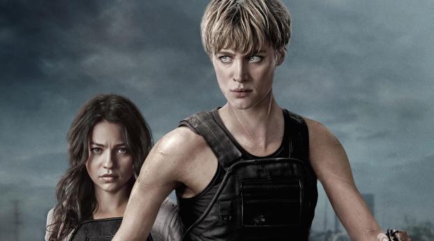 HD Wallpaper | Background Image Mackenzie Davis And Natalia Reyes In Terminator 6