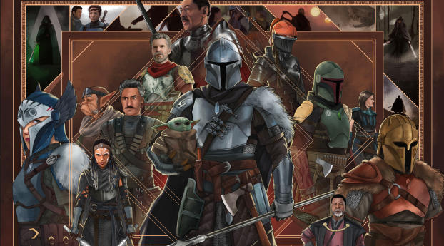 Mandalorian All Character Poster Wallpaper