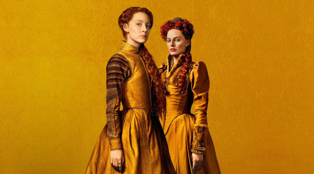 HD Wallpaper   Background Image Margot Robbie and Saoirse Ronan in Mary Queen of Scots 2018 Movie
