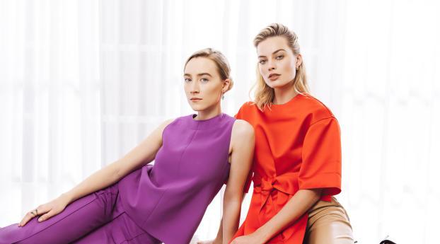 HD Wallpaper | Background Image Margot Robbie and Saoirse Ronan