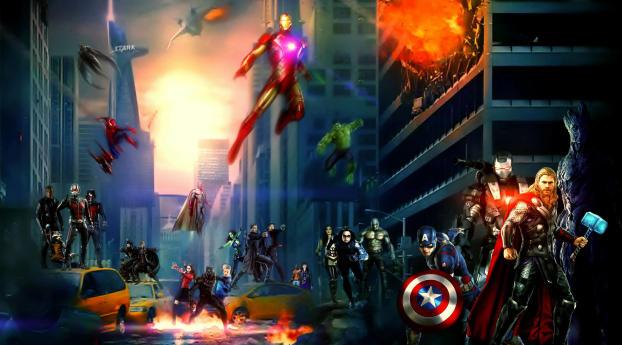 HD Wallpaper | Background Image Marvel Cinematic Universe Superhero Artwork