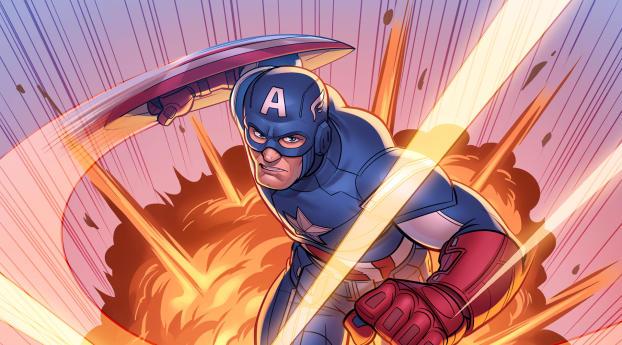 HD Wallpaper   Background Image Marvel Comic Captain America