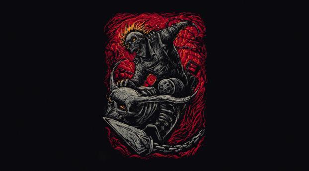 HD Wallpaper | Background Image Marvel Ghost Rider Minimalist