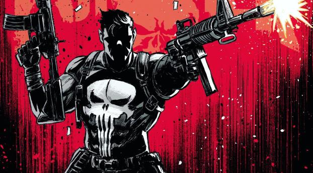 HD Wallpaper | Background Image Marvel Punisher Art 2020