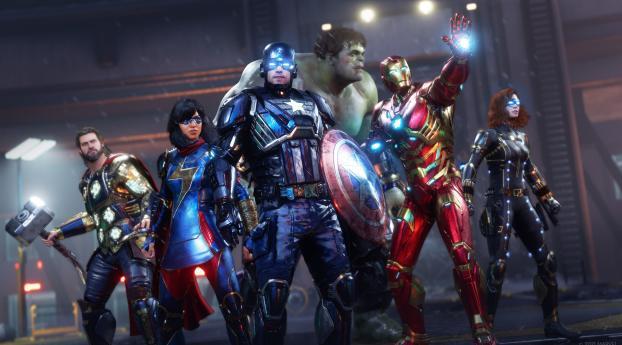 Marvel's Avengers 4K Gaming Poster Wallpaper 240x320 Resolution